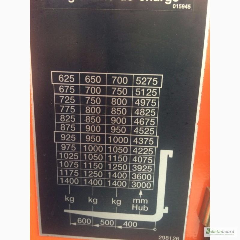 Фото 4. Штабелер електричний самохідний STILL 1400кг 4.2м