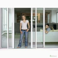 Раздвижные металлопластиковые двери SWS