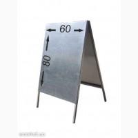 Штендер металлический, щит деревянный, стритлайн, указатель дорожный, рекламный щит
